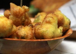 'Accras de Morue' - salt cod fritters.